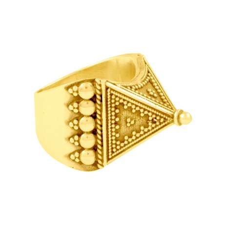 GOLD PLATED PYRAMID RAWA RING