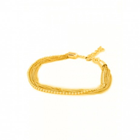 GOLD PLATED MULTI CHAIN BRACELET
