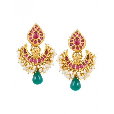JADAU PAAN RUBY EMERALD CHANDBALI
