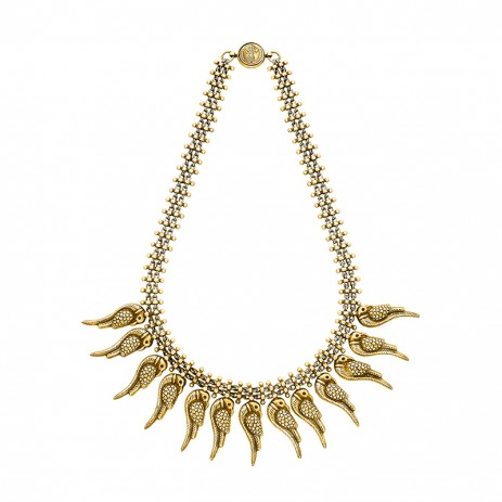 GOLD PLATED PARROT NECKLACE