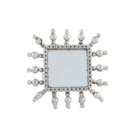 SQUARE TEMPLE MIRROR RING