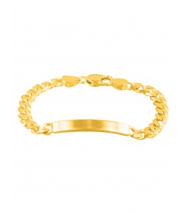 GOLD PLATED SILVER  BAR BRACELET