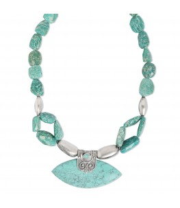 TURQUOISE FIROZA STATEMENT NECKLACE