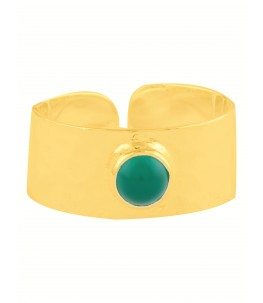 GOLD PLATED GREEN BAND RING