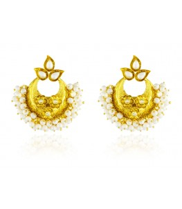 Ahilya Celestial Chandbali Collection 925 silver earrings