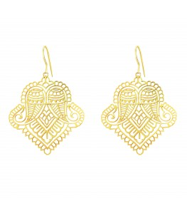 PAISLEY FILIGREE GOLD PLATED EARRINGS