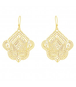 GOLD PLATED  PAISLEY FILIGREE  EARRINGS