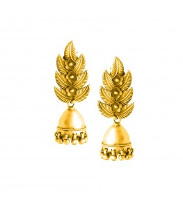 PHOOL PATTA GOLD PLATED JHUMKI