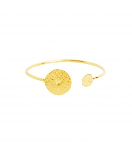 DOUBLE SEED ANKUR GOLD PLATED CUFF