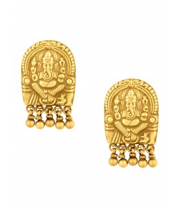 GOLD PLATED AVIGHNA EARRINGS