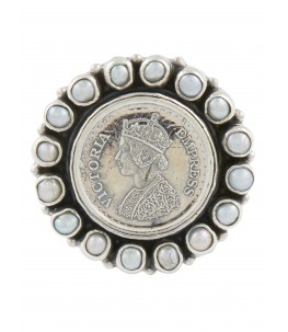 PEARL COIN BROOCH