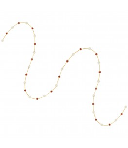 RED ONYX AND PEARL WAISTCHAIN
